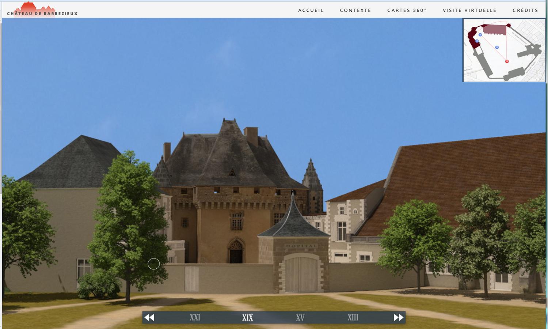 Le Château De Barbezieux : L'appli VR