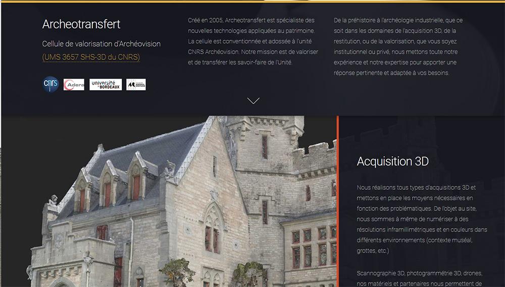 Archéotransfert : Nouveau Site Web