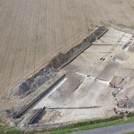 Enceinte néolithique du Peu, à Charmé (Charente).